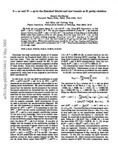 $ B\to\phi\pi $ and $ B^ 0\to\phi\phi $ in the Standard Model and new ...