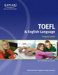 & English Language - Kaplan Test Prep