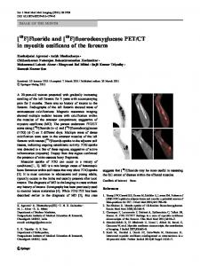 [ F]Fluoride and [ F]fluorodeoxyglucose PET/CT in ... - Springer Link