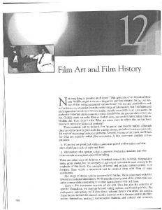 , Film Art and Film History - California State University, Sacramento