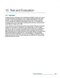 + Part 10: Test and Evaluation (1.3 Mb PDF) - NASA