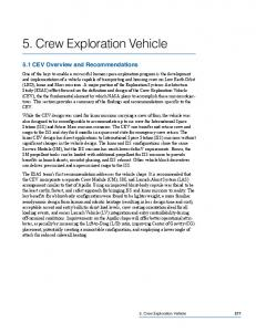 + Part 5: Crew Exploration Vehicle (13.7 Mb PDF) - NASA