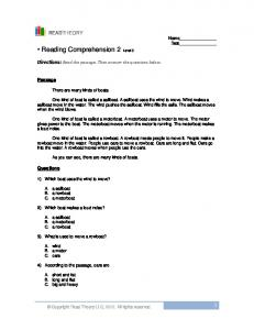 • Reading Comprehension 2 - English for Everyone