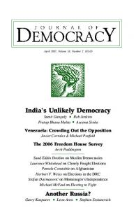 0. April Cover.pmd - Journal of Democracy