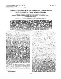 0157 Strains That Cause Infantile Diarrhea - Infection and Immunity