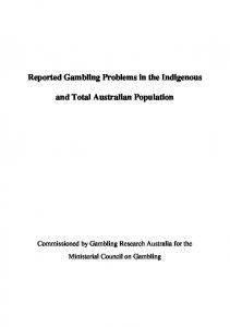 090508 Reported gambling problems - Gambling Research Australia