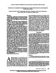 092696 Effects of Cigarette Smoking on Lung ... - Semantic Scholar