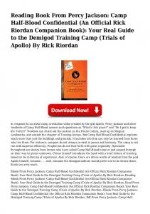 0bmp PDF From Percy Jackson: Camp Half-Blood Confidential (An