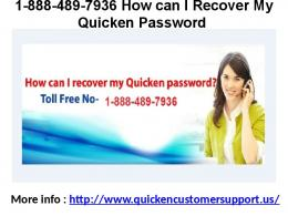 1-888-489-7936 Quicken Phone Number