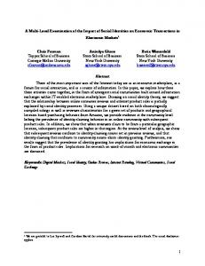 1 A Multi-Level Examination of the Impact of Social ... - NYU Stern