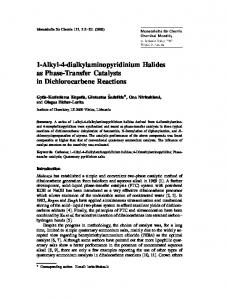 1-Alkyl-4-dialkylaminopyridinium Halides as Phase ... - Springer Link
