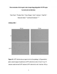 1 Characterization of tick organic anion transporting