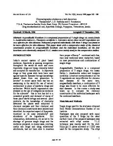 1 Chromatographic studies on a herb decoction A
