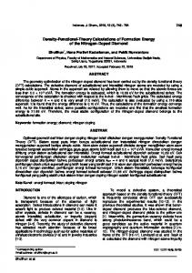 1 Density-Functional-Theory Calculations of