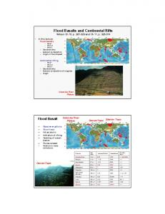 1 Flood Basalts and Continental Rifts