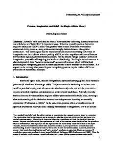 1 Forthcoming in Philosophical Studies Pretense ... - PhilArchive