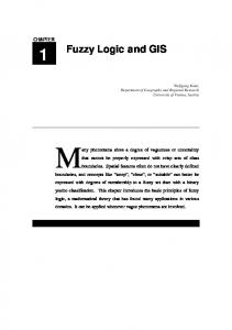 1 Fuzzy Logic and GIS