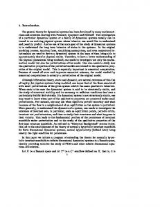 1. Introduction. The general theory for dynamical systems ... - MSU math