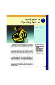 1 Introduction to Operating Systems