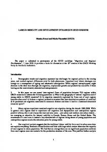1 LABOUR MOBILITY AND DEVELOPMENT DYNAMICS ... - OECD.org