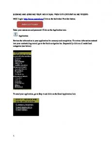 1 MCC Login: http://www.mncred.org Click on the Individual Provider ...
