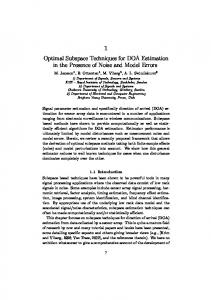 1 Optimal Subspace Techniques for DOA Estimation in the Presence ...