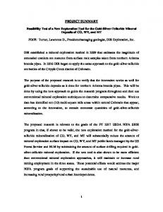 1 PROJECT SUMMARY Feasibility Test of a New ...