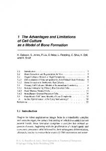 1 The Advantages and Limitations of Ce// Culture as a Model of Bone ...