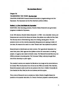 1 The Americans (Survey) Chapter 23: TELESCOPING THE TIMES ...