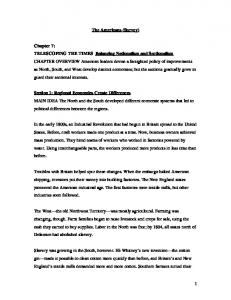 1 The Americans (Survey) Chapter 7: TELESCOPING THE TIMES ...