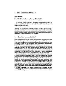 1 The Direction of Time - Mathematical and Computer Sciences