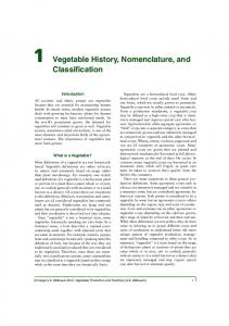 1 Vegetable History, Nomenclature, and Classification - CABI.org