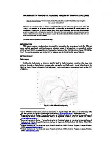 1 VULNERABILITY TO COASTAL FLOODING INDUCED BY ...