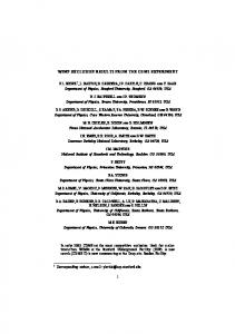1 wimp exclusion results from the cdms experiment - Berkeley ...