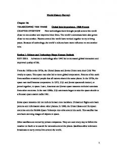 1 World History (Survey) Chapter 36: TELESCOPING THE TIMES ...