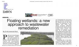10/1/2015 Floating wetlands: a new approach to wastewater ...