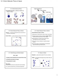 10-1 Kinetic Molecular Theory of Gases 1 - mrkearsley.com