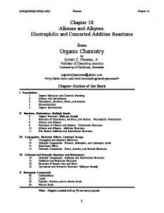 10. Alkenes and Alkynes. Addition Reactions