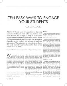 10 Easy Ways to Engage your Students - SPU DigitaLobby