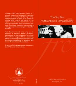 10 myths about homosexuality - Family Research Council