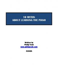 10 myths about learning the piano - PhilipYeoh.com Learn to play ...