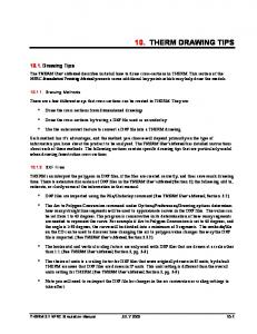 10. THERM DRAWING TIPS