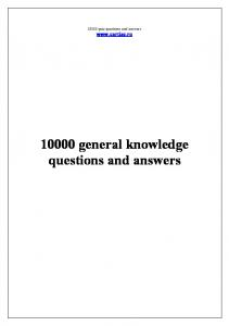 general knowledge quiz with answers multiple choice pdf