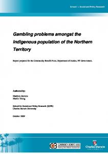 100824 CBF Indigenous Reported gambling problems NT