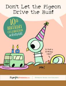 10th Birthday Celebration Activity Kit