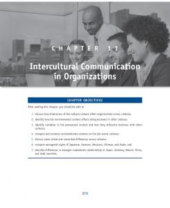 11. Intercultural Communication in Organizations - Sage Publications