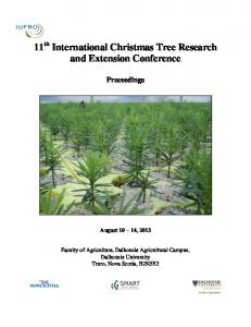 11 International Christmas Tree Research and Extension ... - IUFRO