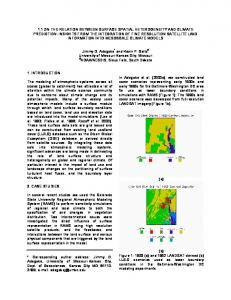 1.1 on the relation between surface spatial heterogeneity and climate ...