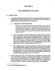 11 The Infinity of God - Bunyan Ministries