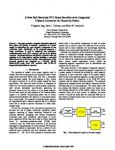 11.1 A New Soft-Switched PFC Boost Rectifier with ... - Semantic Scholar